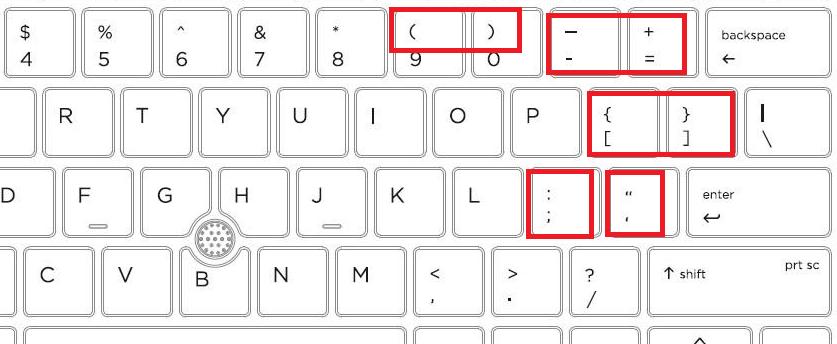 英語配列キーボードの記号のキーの位置がいい